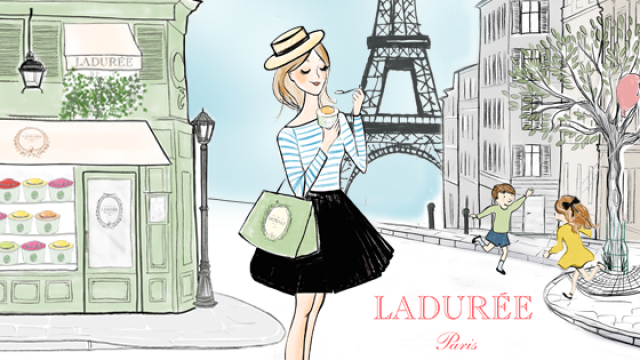 Laduree<br> <mark> 1+1 glass of wine </mark></br>